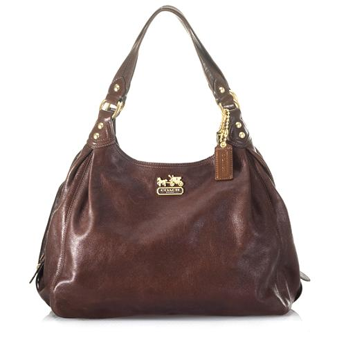 Coach Madison Leather Maggie Hobo Handbag