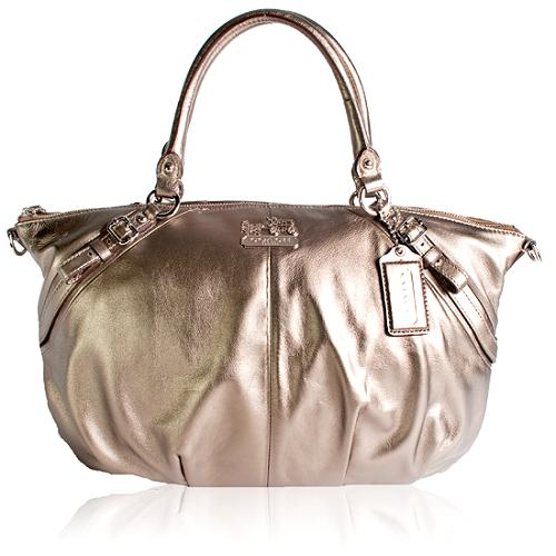 Coach Madison Leather Sophia Large Satchel Handbag