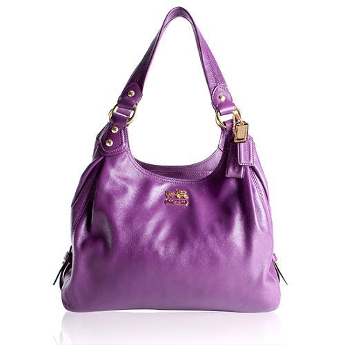 Coach Madison Maggie Leather Hobo Handbag