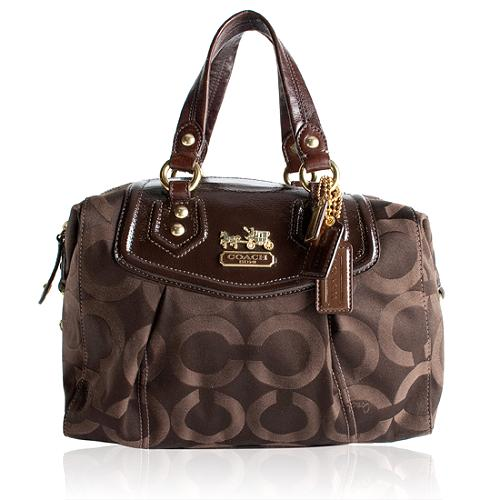 Coach Madison Op Art Audrey Satchel Handbag
