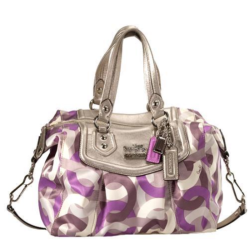 Coach Madison Op Art Chainlink Audrey Satchel Handbag