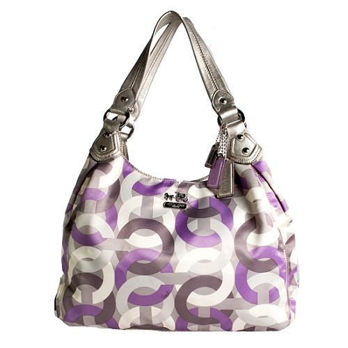 Coach Madison Op Art Chainlink Maggie Shoulder Handbag