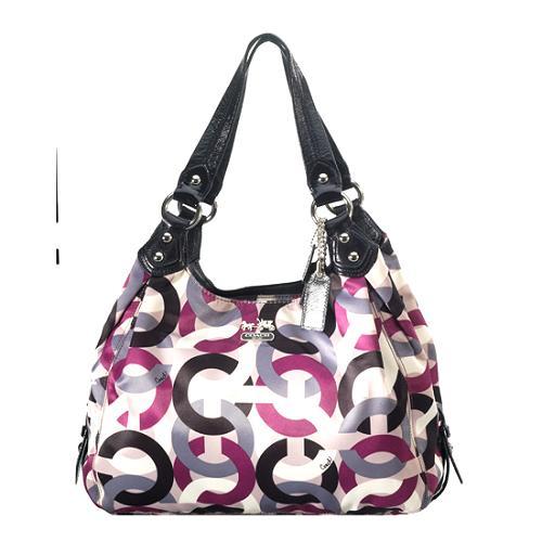 9a19ceeee68c Coach Madison Op Art Chainlink  Maggie  Shoulder Handbag