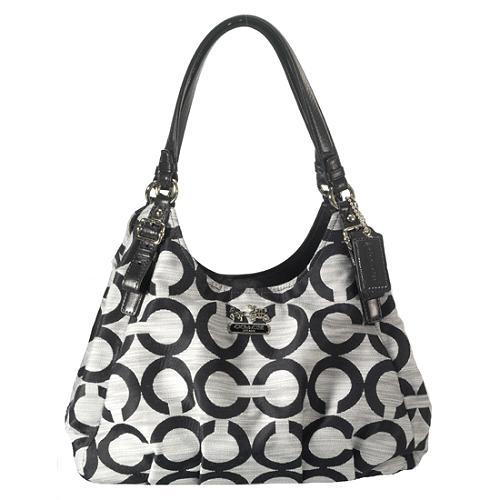 Coach Madison Op Art Maggie Shoulder Handbag