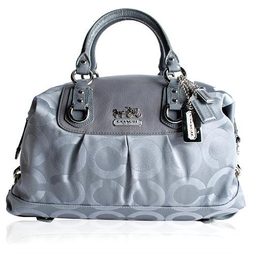 Coach Madison Op Art Sabrina Large Satchel Handbag
