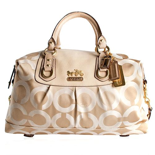 Coach Madison Op Art Sabrina Large Satchel Handbag