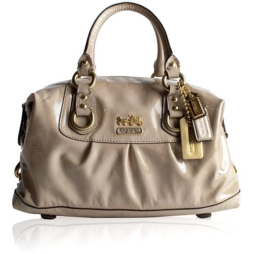 Coach Madison Patent Leather Sabrina Satchel Handbag