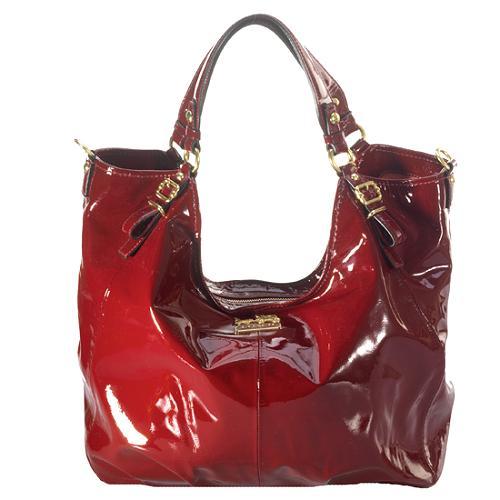 Coach Madison Patent Leather Shoulder Handbag