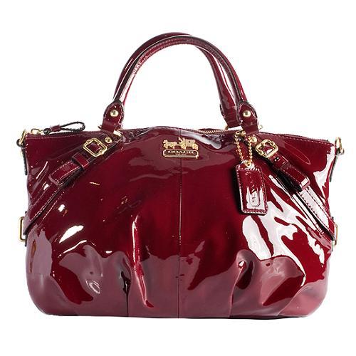 Coach Madison Patent Leather Sophia Satchel Handbag
