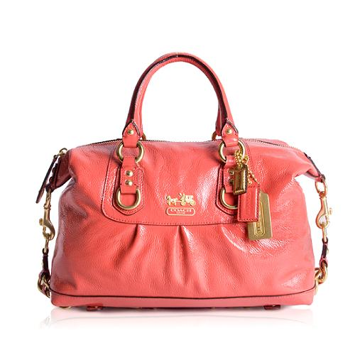 Coach Madison Sabrina Patent Leather Satchel Handbag