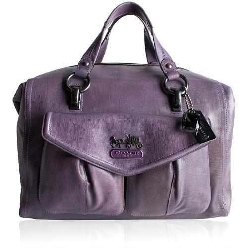 Coach Madison Textured Leather Large Audrey Satchel Handbag
