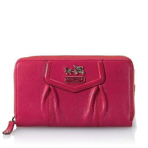 Coach Madison Zip Around Leather Wallet