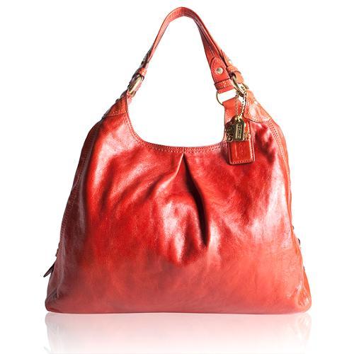 Coach Maggie Large Leather Shoulder Handbag