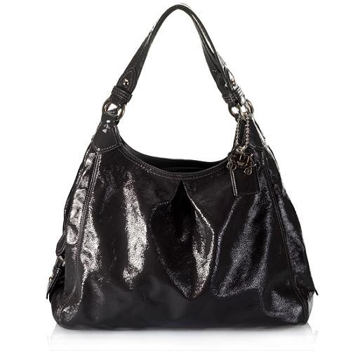 Coach Maggie Patent Leather Hobo Handbag