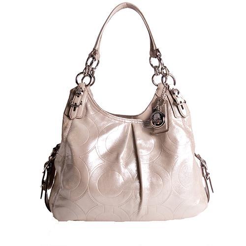 Coach Mia Embossed Op Art Maggie Shoulder Handbag