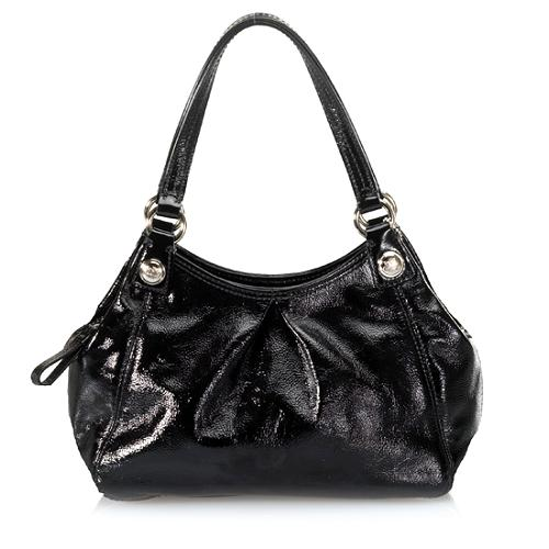Coach Mia Mini Maggie Patent Leather Satchel Handbag