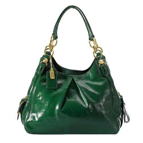 Coach Mia Patent Leather Maggie Shoulder Handbag