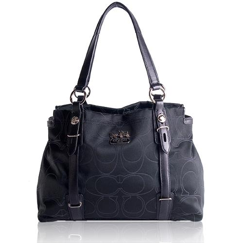 Coach Mia Signature Outline Op Art Carryall Tote