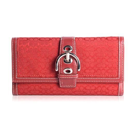 Coach Mini Signature Checkbook Wallet