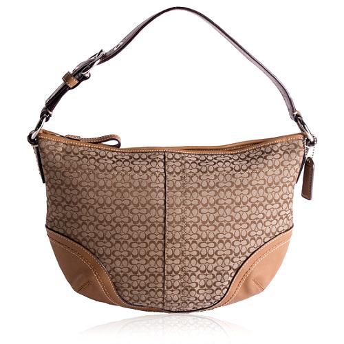 Coach Mini Signature Hobo Handbag