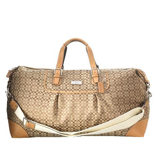 Coach Mini Signature Luggage Duffel Travel Handbag