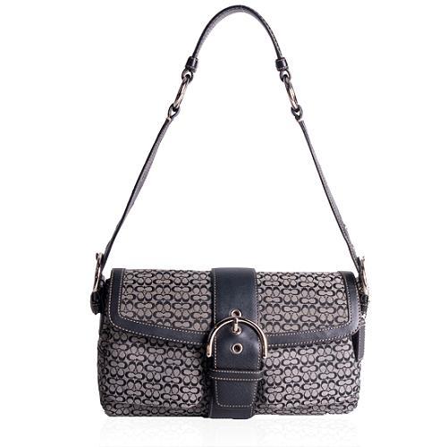 Coach Mini Signature Pocket Flap Shoulder Handbag