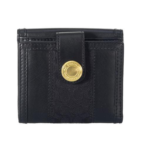 Coach Mini Signature Stripe French Purse Wallet