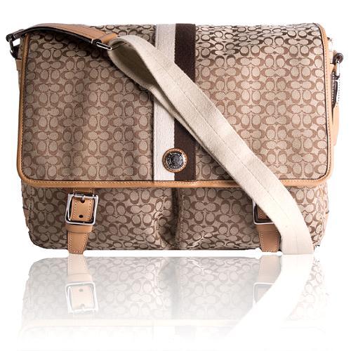Coach Mini Signature Voyager Messenger Handbag