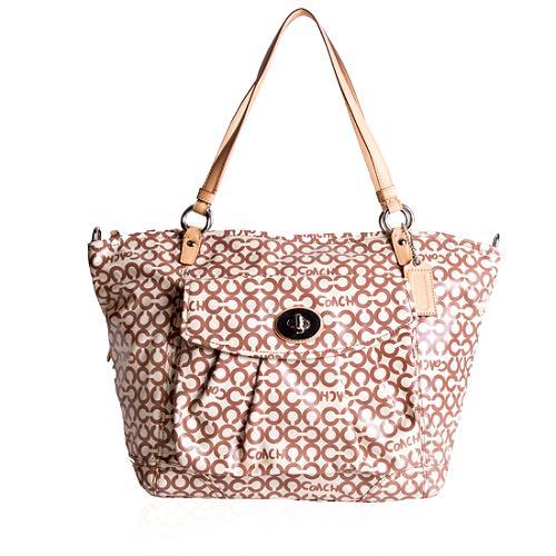 Coach Op Art Coated Canvas Leah Tote