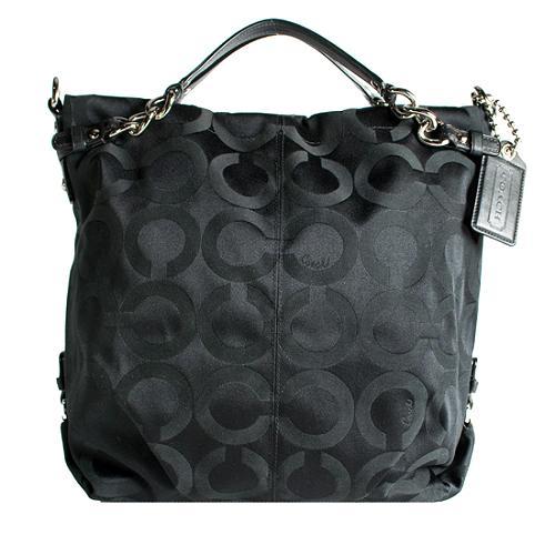 Coach Op Art Sateen Brooke Large Hobo Handbag