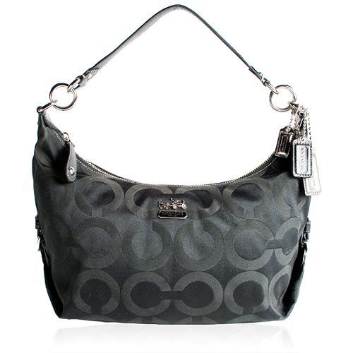 Coach Op Art Sateen Hailey Crossbody Shoulder Handbag