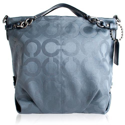 Coach Op Art Sateen Lurex Large Brooke Hobo Handbag