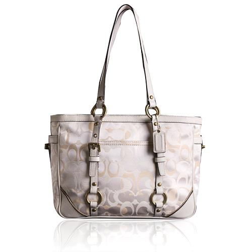 Coach Op Art Signature East West Gallery Tote