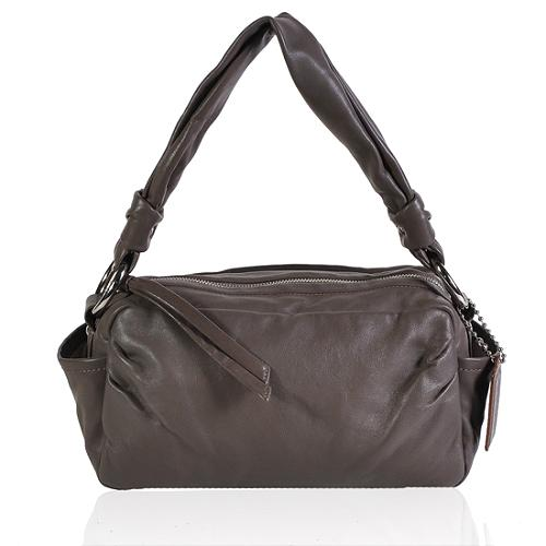 Coach Parker Leather Zip Shoulder Handbag