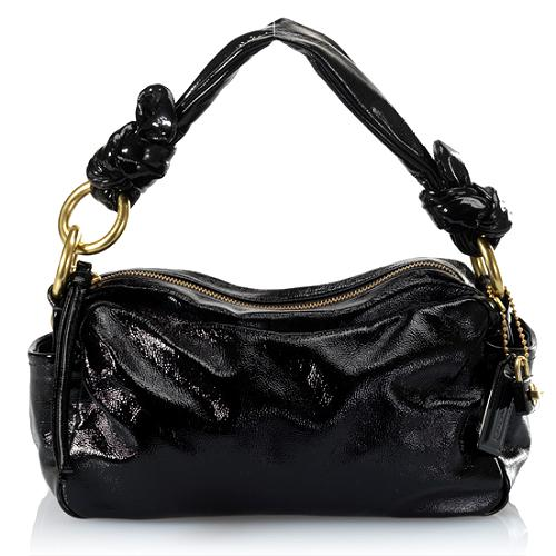 Coach Parker Patent Leather Zip Shoulder Handbag