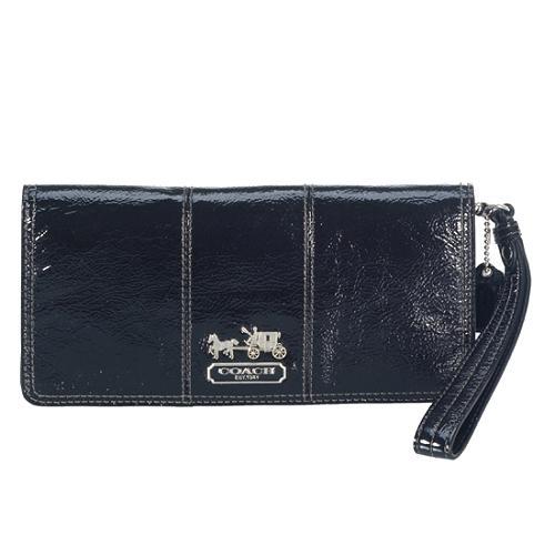 Coach Patent Leather Flap Wristlet