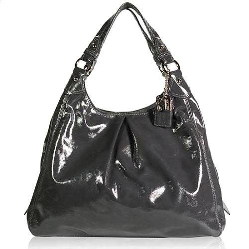 Coach Patent Leather Maggie Hobo Handbag