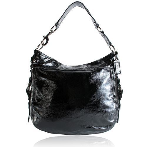 Coach Patent Leather XL Zoe Hobo Handbag