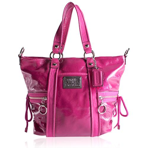 Coach Patent Poppy Spotlight Tote