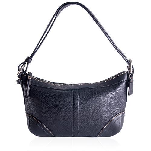 Coach Pebbeled East/West Soft Duffle Shoulder Handbag