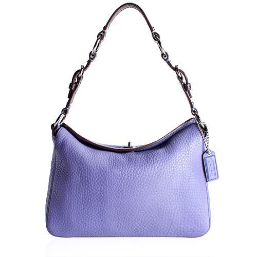 Coach Pebbled Leather Chelsea Turnlock Hobo Handbag