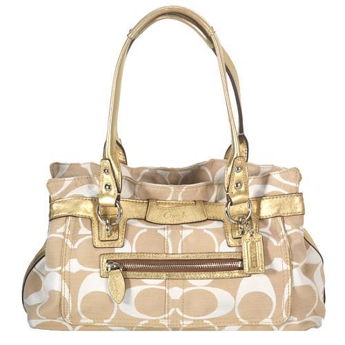 Coach Penelope Shantung Signature Satchel Handbag