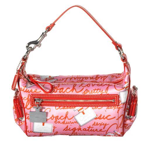 Coach Perfume Print Top Handle Pouch Shoulder Handbag