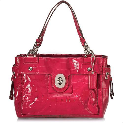 Coach Peyton Embossed Exotics Handbag