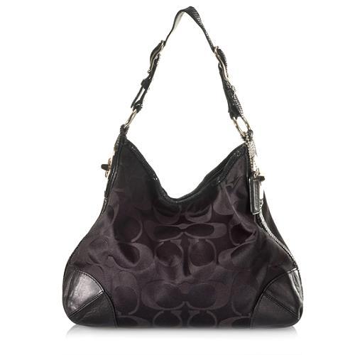 Coach Peyton Signature Sateen Shoulder Handbag