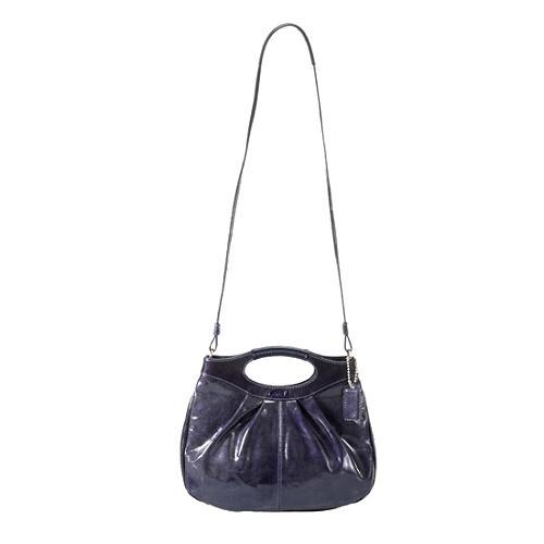 Coach Pleated Patent Lexi Crossbody Shoulder Handbag