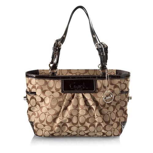 Coach Pleated Signature East/West Gallery Tote
