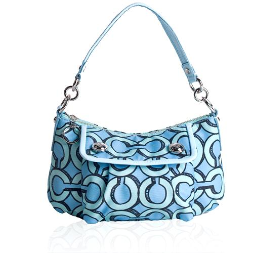 Coach Poppy 3D Op Art Groovy Signature Shoulder Handbag