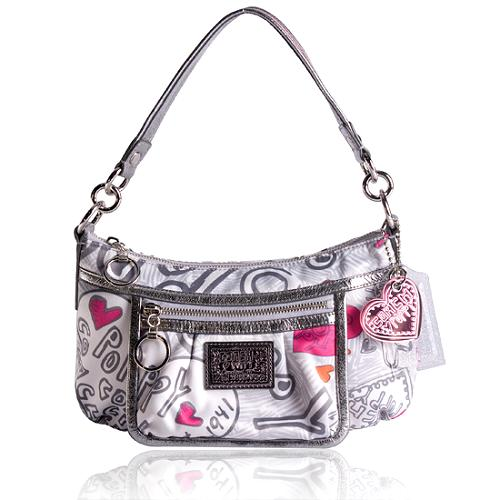 Coach Poppy Graffiti Groovy Shoulder Handbag