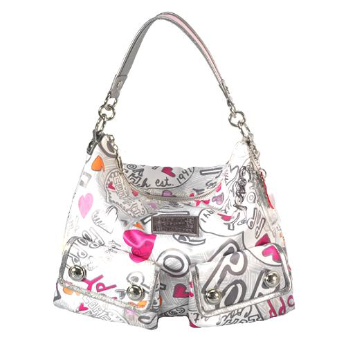 Coach Poppy Graffiti Pocket Hobo Handbag